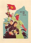 Vintage Vietnamese Propaganda Soldiers Ready For War Poster